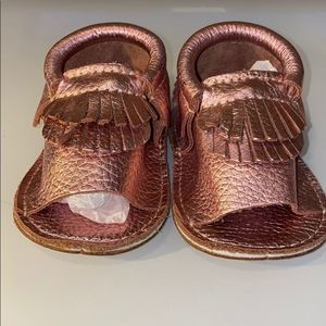 Other - First Steps Girls Pink Moccasins Shoes